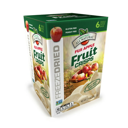 Brothers All Natural Freeze-Dried Fuji Apples Fruit Crisps, 2.12 Oz., 6