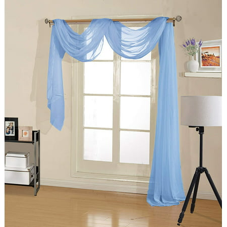 - Decotex Premium Sheer Voile Scarf Valance for Home & Event Designs (54