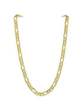 Primal Gold 10 Karat Yellow Gold 8.75mm Light Concave Figaro Chain