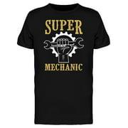 Super Mechanic Slogan Tee Men's -Image by Shutterstock