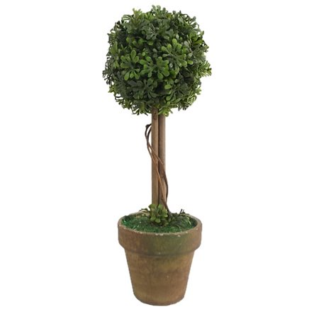 Craft Outlet Floral Ball Topiary in Pot (Set of 2)
