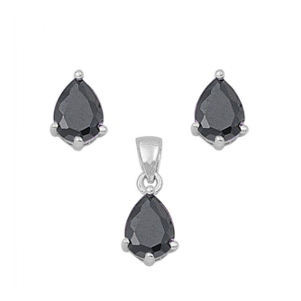 925 Sterling Silver Sets With Cubic Zirconia