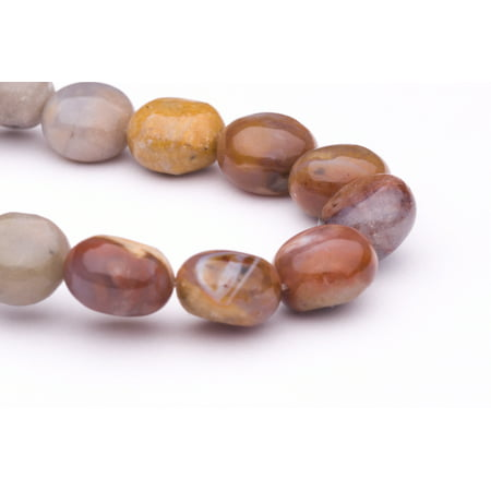 Crazy Agate Beads - Flat Crazy Lace Agate Round Beads Semi Precious Gemstones Size: 12x12mm Crystal Energy Stone Healing Power for Jewelry Making