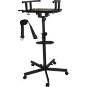 Audio2000s AST4202 TV-Monitor Stand With Metal Microphone Holder