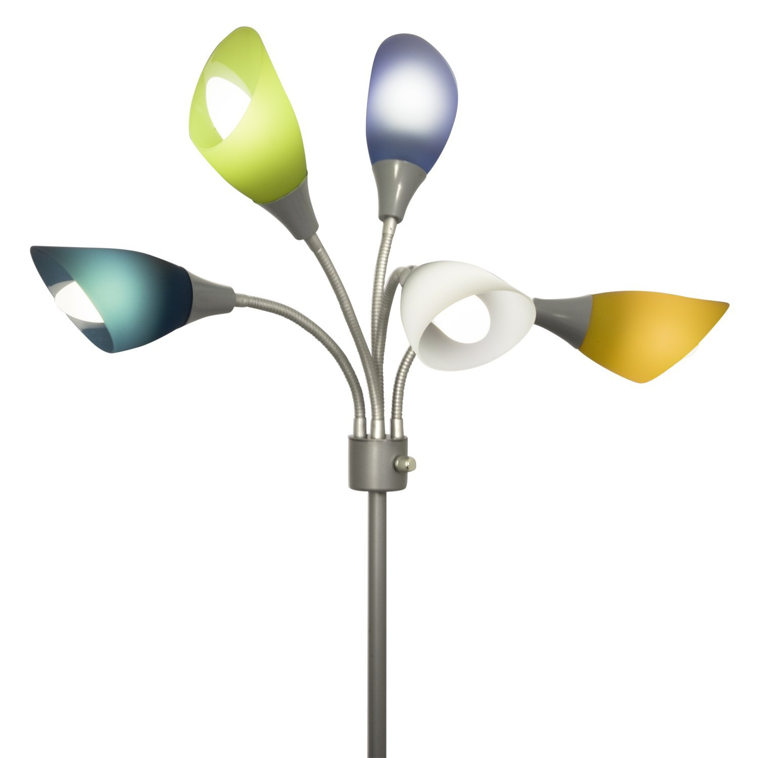 light accents medusa grey floor lamp with multicolor acrylic shades