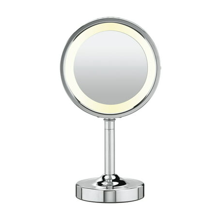 Conair Double-Sided Lighted Vanity Mirror; 1x / 5x Magnification, - Magnified Vanity Mirror