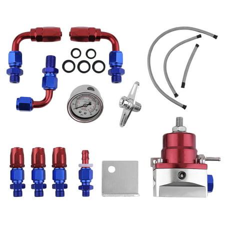 160Psi Universal Fuel Pressure Regulator Kit Oil Gauge Adjustable Fuel Pressure Regulator Oil Gauge Fuel Pressure Regulating Kits