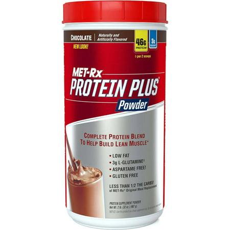 MET-Rx Protein Plus Chocolate Powder, 2lb - Walmart.com