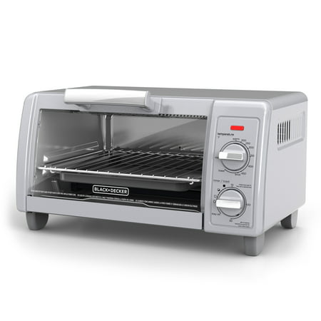 BLACK+DECKER 4-Slice Toaster Oven, Easy Controls, Stainless Steel, TO1705SG