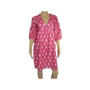 Womens 'Marie' V-Neck V Dress, Pink, Size M
