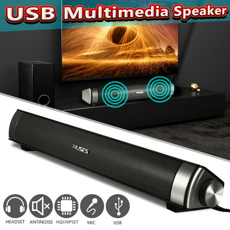 MIDAS-2.0 15.7'' USB Multimedia Speaker Powerful HiFi Audio Sound Bar Speaker For Computer Desktop PC Laptop Phone (Sound Bar For Laptop)