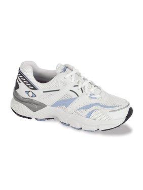 Apex X522W Women's Athletic Shoe: 4.5 X-Wide (2E-3E) White/Blue Lace