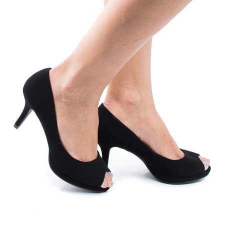 - Walter by City Classified Comfort, Peep Toe Extra Comfort Insole Stiletto Heel Classic Dress Pumps