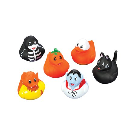Set Of 12 Halloween Movie Monsters Rubber Duckies Bath Ducks Toys - Monster Finger Sandwiches Halloween