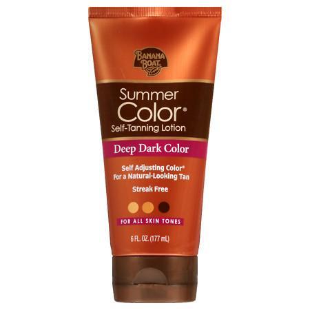 Dark Tan Combo - Banana Boat Sunless Summer Color Self Tanning Lotion, Deep Dark 6.0 fl oz(pack of 1)
