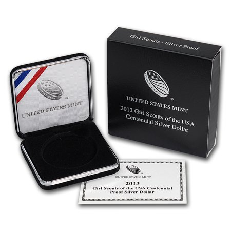 OGP Box & COA - 2013 U.S. Mint Girl Scouts Silver Proof (2013 United States Mint Silver Proof Set)