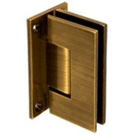 CRL Vienna 037 Series Antique Brass Wall Mount Shower Door Hinge,  Accommodates 3/8 - CRL Vienna 037 Series Antique Brass Wall Mount Shower Door Hinge