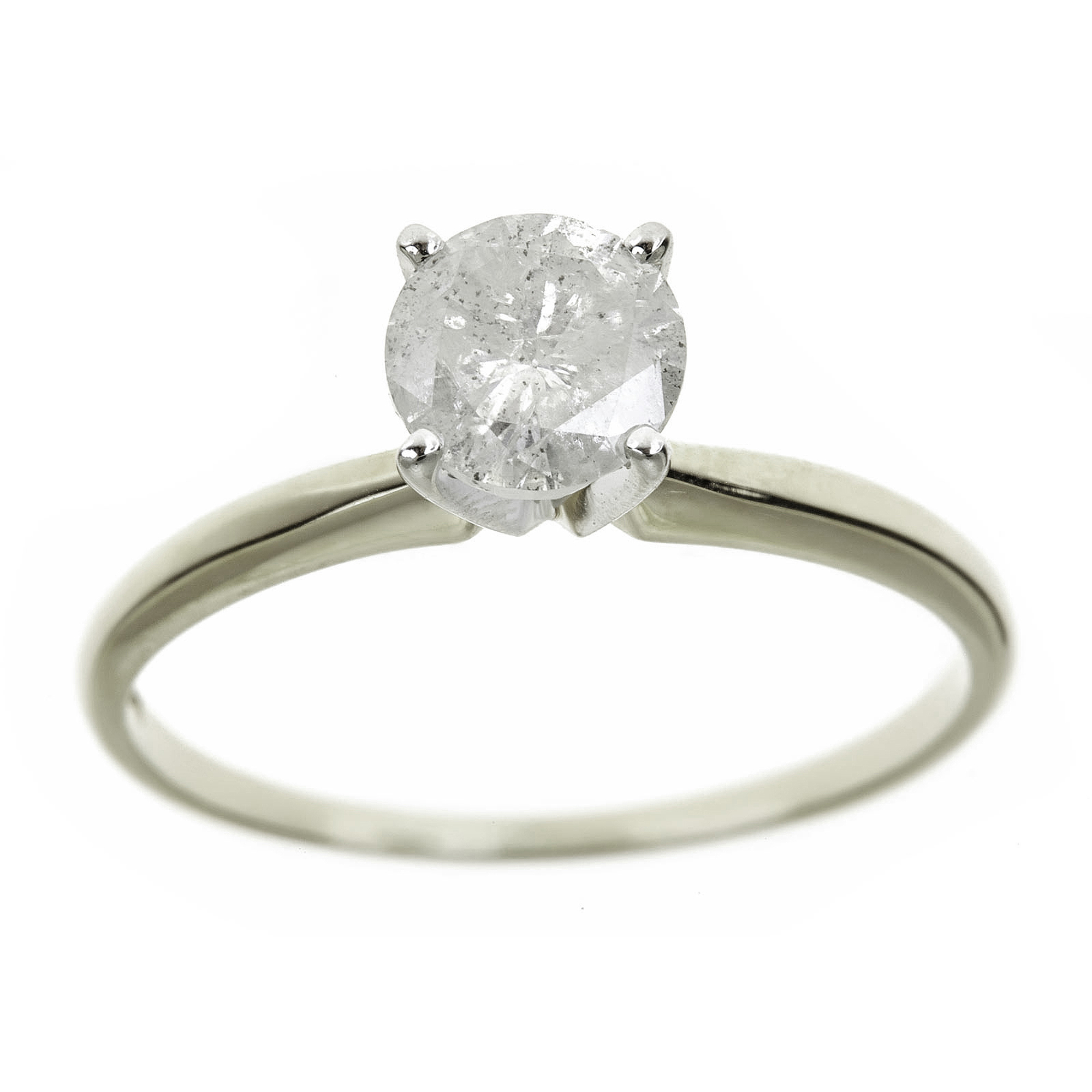 1.5 Carat T.W. Round White Diamond 14kt White Gold Solitaire Ring, IGL certified by Generic