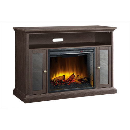 "Pleasant Hearth Riley Media Electric Fireplace for TVs up to 48"", Espresso"