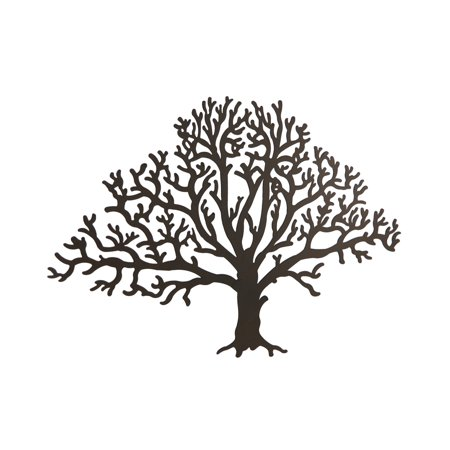 Metal Brown Tree Decorative Wall Hanging