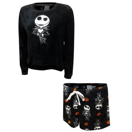 Jack From The Nightmare Before Christmas (MJC Women's Nightmare Before Christmas Jack Skellington Plush Shortie Pajama)