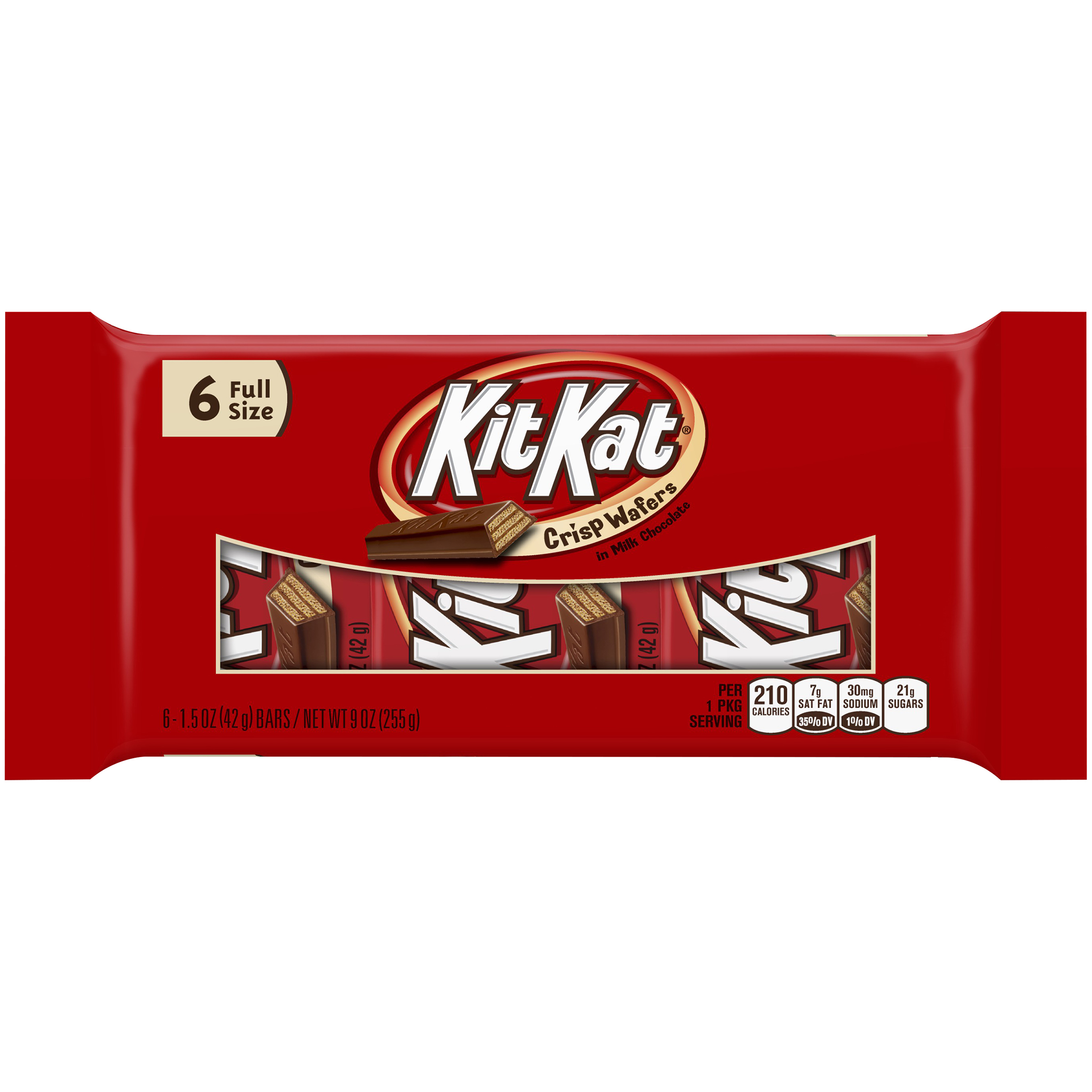 Kit Kat, Crisp Wafer Milk Chocolate Candy Bars Snack Size, 9 Oz