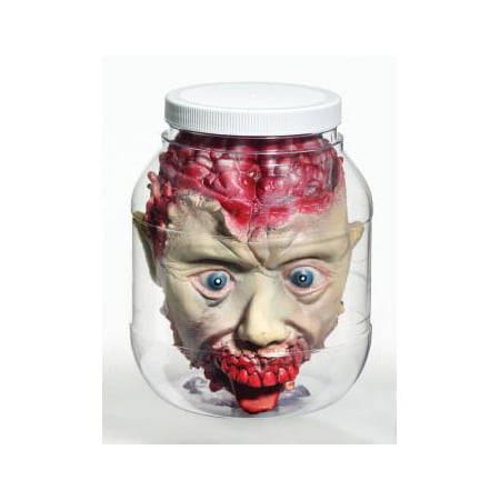 3D Head In Jar Prop Halloween Decoration - Halloween Decoration Cheap