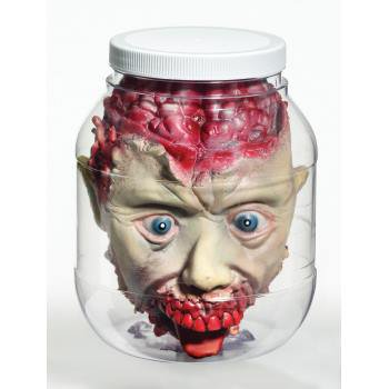 3D Head In Jar Prop Halloween Decoration - Severed Hand Halloween Prop