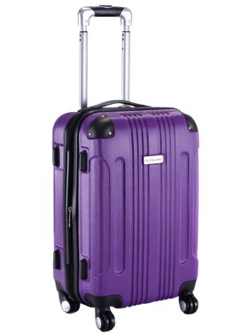 GLOBALWAY Expandable 20'' ABS Luggage Carry on Travel Bag Trolley Suitcase Purple