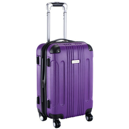GLOBALWAY Expandable 20'' ABS Luggage Carry on Travel Bag Trolley Suitcase (Premium Two Bag Trolley)