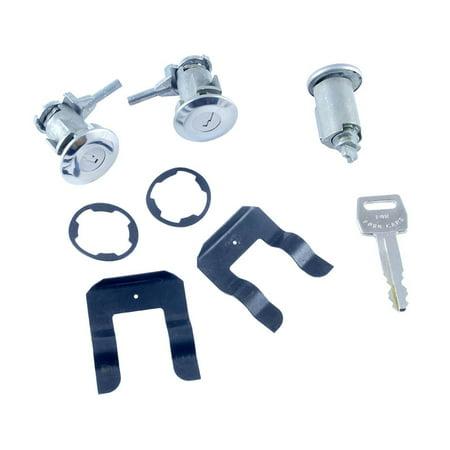 Ford Ignition Lock Cylinder - Dennis Carpenter Ford Restoration Door Lock & Ignition Cylinder Set 1967 - 1972