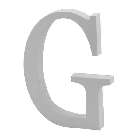 Wedding Party Home Plywood Decoration English G Letter Alphabet DIY Wall White](Letter G Halloween)