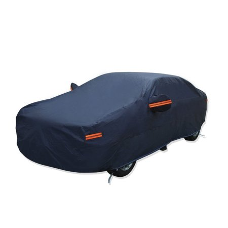 All Weather Car Cover Hot Welted Seamless PEVA Cotton Full Breathable  Snow Resistant Waterproof Outdoor SUV Protector Fits up to 192 inches (PEVA,Dark Blue)