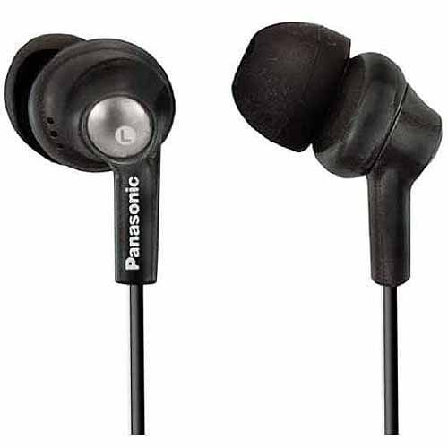 Panasonic Ergo Fit Inner Earbuds, Black, RP-HJE280-K