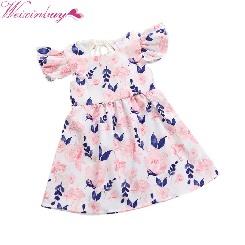 Toddler Kid Baby Girl Floral Wedding Pageant Party Princess Lace Dress Sundress