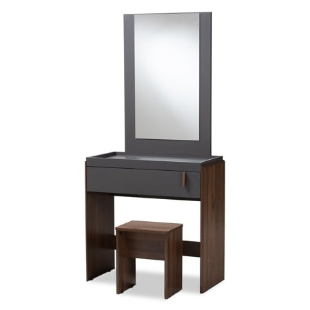 Baxton Studio Contemporary Bedroom Vanity with Stool - Walmart.com