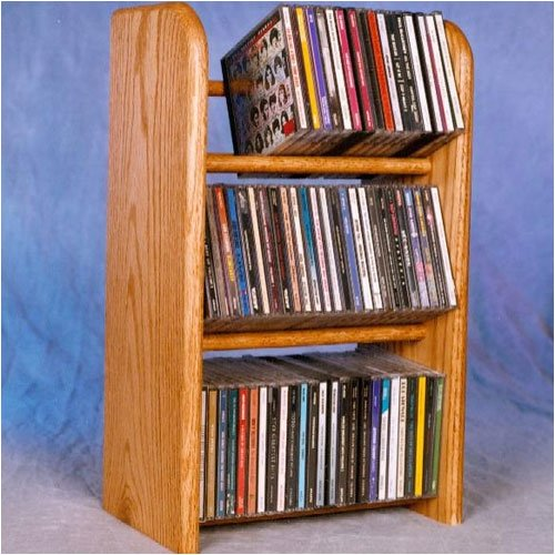 Wood Shed 300 Series 78 CD Dowel Multimedia Tabletop Storage Rack