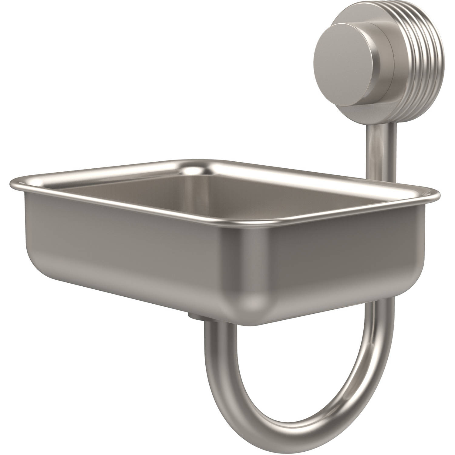 Venus Collection Wall-Mounted Soap Dish with Groovy Accents (Build to Order)