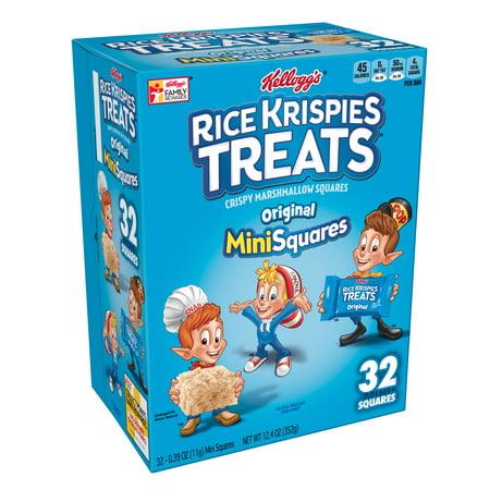 Kellogg's Rice Krispies Mini Treats 32 Ct 12.40 oz - Rice Krispie Halloween Treats Pumpkin