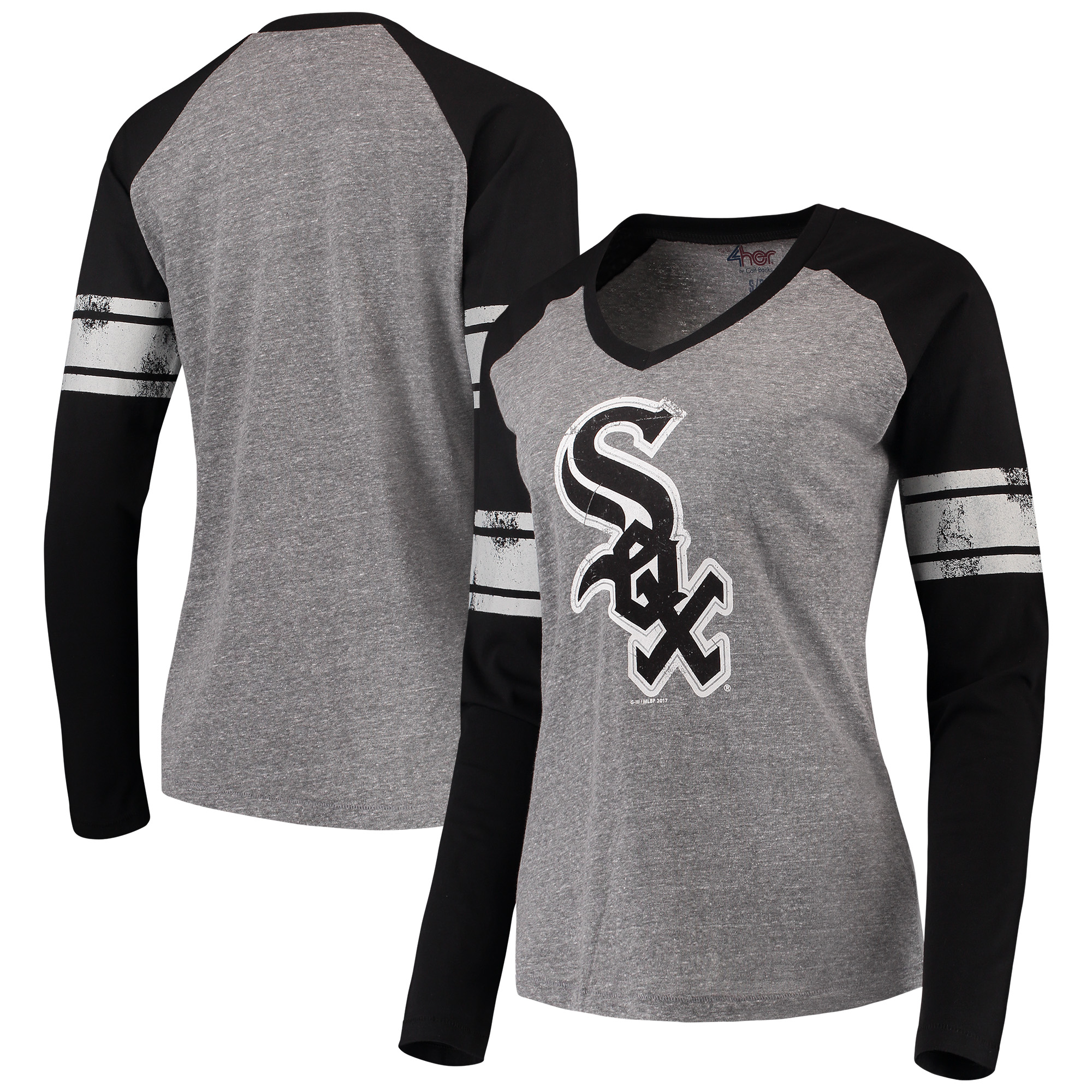 Chicago White Sox G-III 4Her by Carl Banks Women's The Franchise Long Sleeve T-Shirt - Black