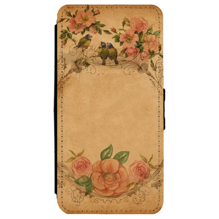 Image Of Classic Vintage Antique Wallpaper Patter Background Apple Iphone 8 Leather Flip Phone Case