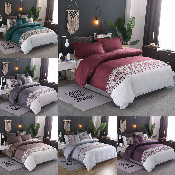 Details about  /Cactus Pattern Dark Green Quilt Four Piece Set Quilt Bed Sheet Pillowcase