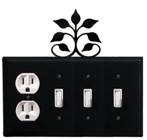 Leaf Fan - Single Outlet and Triple Switch Cover