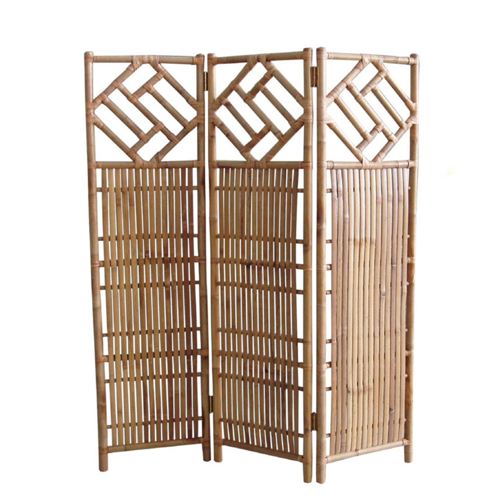 Phat Tommy 3 Panel Indoor/Outdoor Decorative Bamboo Room Divider