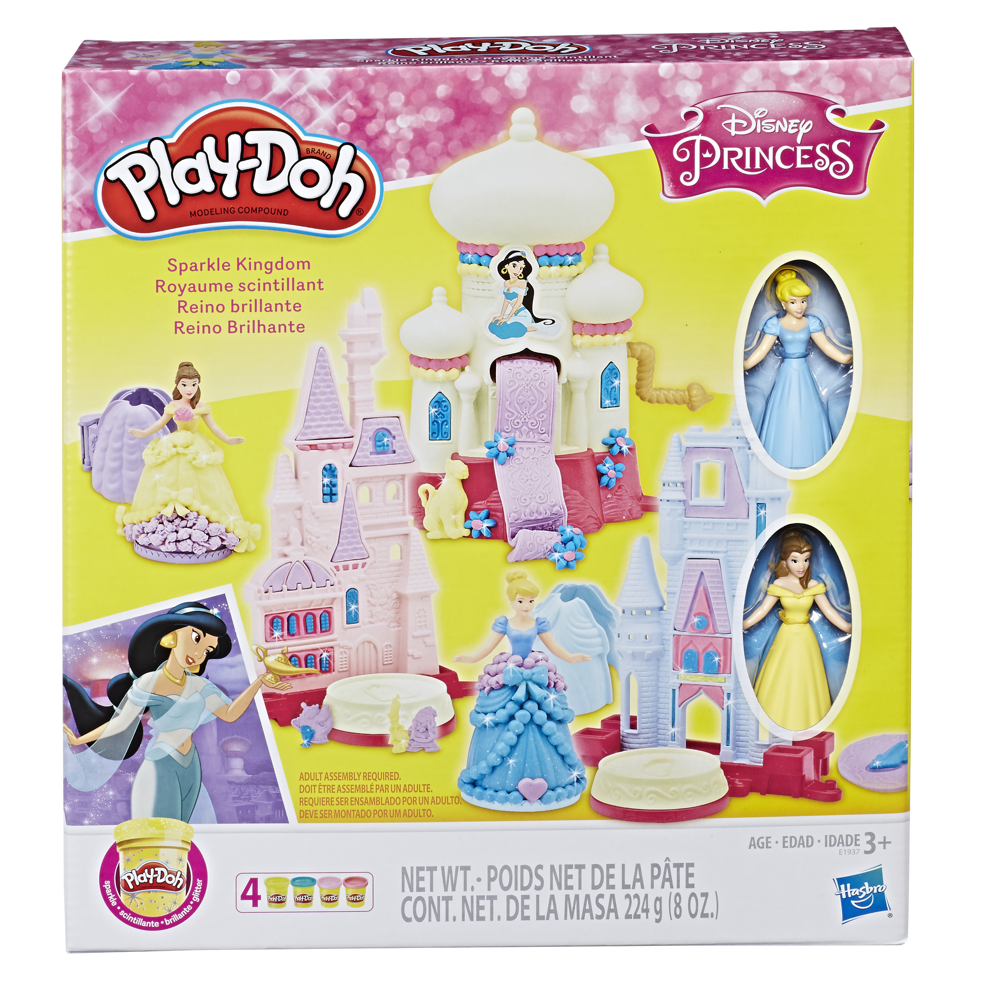 Play-Doh Disney Princess 3-in-1 Sparkle Kingdom Toy Castle Set, Ages 3 and up