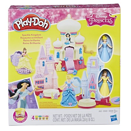 Play-Doh Disney Princess 3-in-1 Sparkle Kingdom Toy Castle Set, Ages 3 and up (D2h Cable)