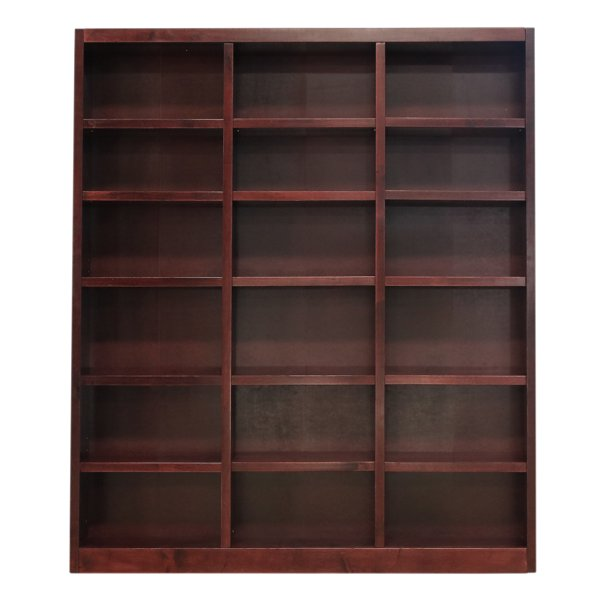 Concepts In Wood 18 Shelf Triple Wide Wood Bookcase 84 Inch Tall