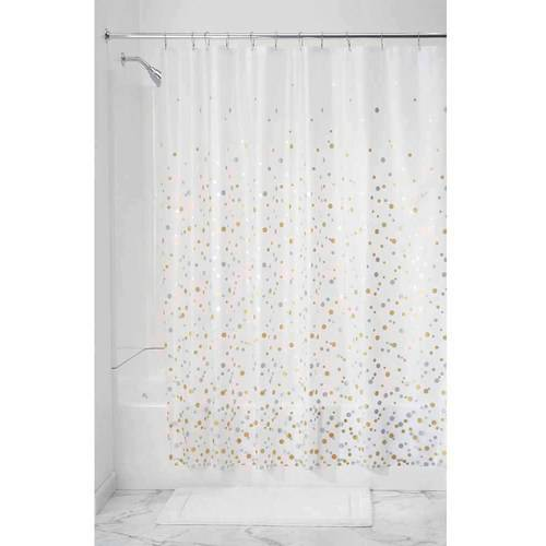 InterDesign Confetti PEVA Decorative Shower Curtain Liner