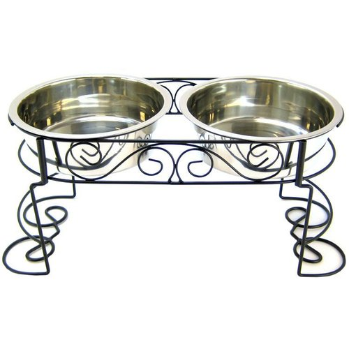 Spot Mediterranean Old World Stainless Steel Double Diner 3 Quarts - (23 Inch L x 10 Inch W x 9.75 Inch H)