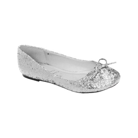 Ellie Glitter Ballet Flats With String Bow Great For Costumes